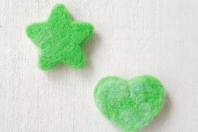 Corazón y estrella verde