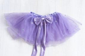 Tutú lila con lacito
