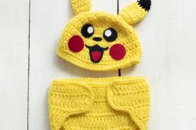 Conjunto tejido Pikachu