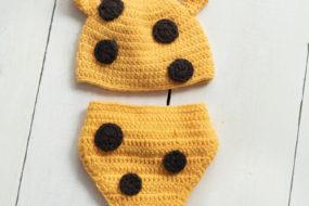 Conjunto tejido jirafa