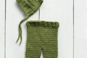 Conjunto verde tejido (newborn)