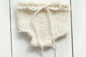 Cubrepañal tejido blanco