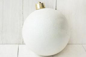 Bola blanca navideña