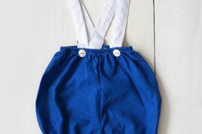 Short azul puntitos con tirantes