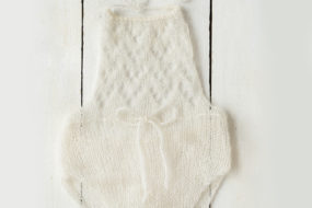 Romper tejido blanco