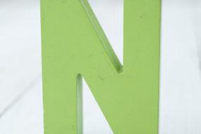 Letra N (verde)