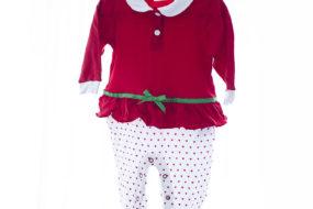 Pijama roja con blanca/corazones (niña)