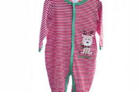 Pijama rayas rojas/blanco con renito (niño)