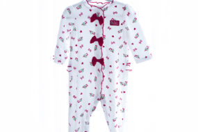 Pijama con lacitos blanca
