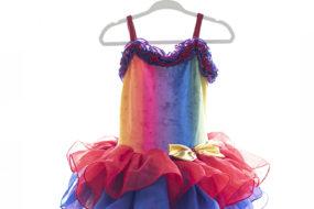 Vestido tutú arcoiris