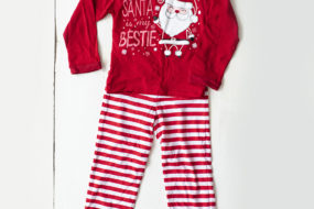 Pijama «Santa is my bestie» (niña)