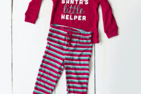 Pijama «Santa's little helper» rayas (niño)