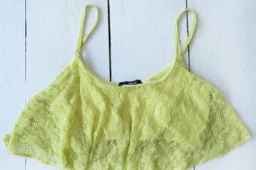 Croptop limón randas