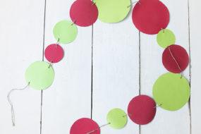 Banderines círculos rojos y verdes (x2)